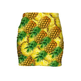 War of the Pineapple Mini Skirt-Shelfies-| All-Over-Print Everywhere - Designed to Make You Smile