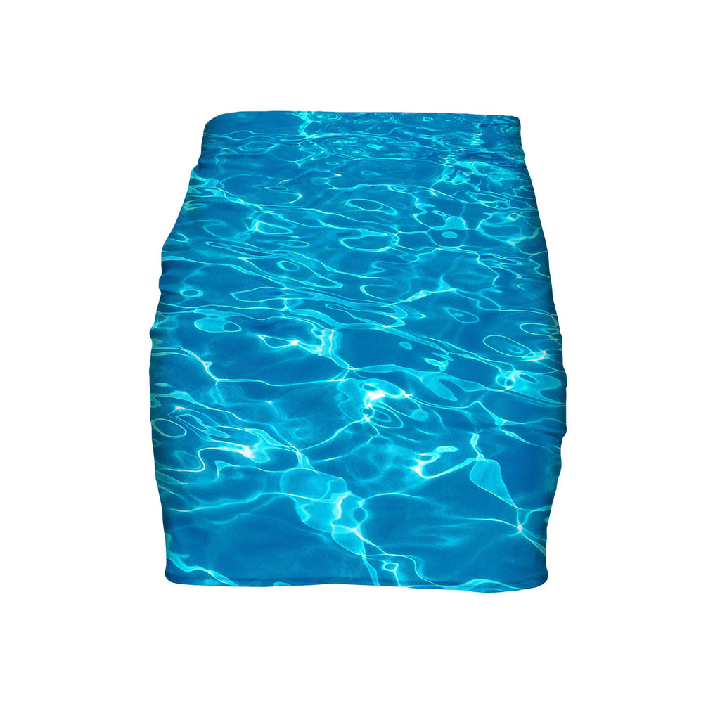 Water Mini Skirt-Shelfies-| All-Over-Print Everywhere - Designed to Make You Smile