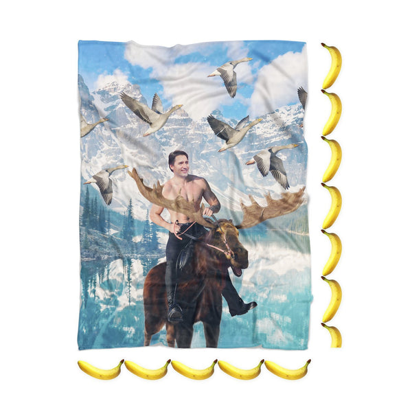 Moosin' Trudeau Blanket-Gooten-| All-Over-Print Everywhere - Designed to Make You Smile
