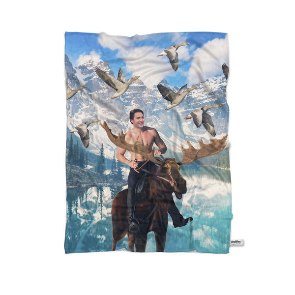 Moosin' Trudeau Blanket-Gooten-Cuddle-| All-Over-Print Everywhere - Designed to Make You Smile