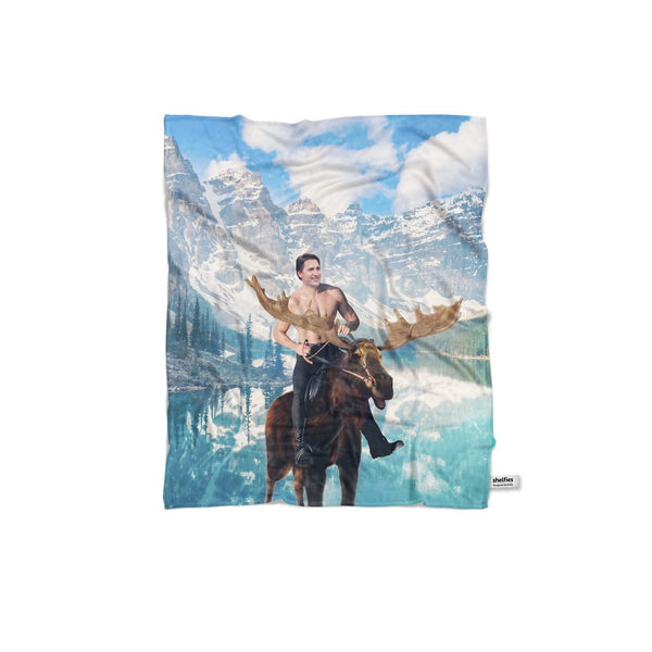 Moosin' Trudeau Blanket-Gooten-Regular-| All-Over-Print Everywhere - Designed to Make You Smile