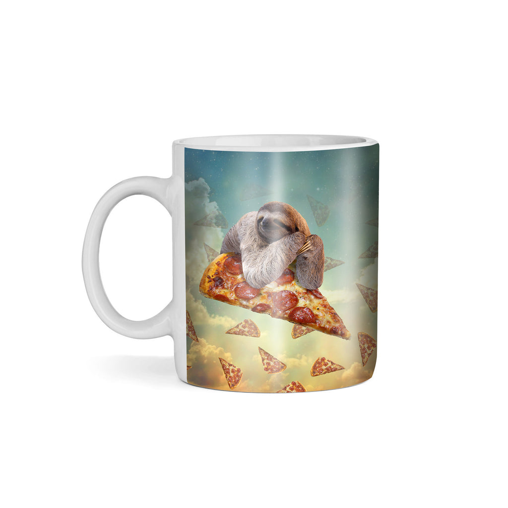 Sloth Pizza Coffee Mug-Gooten-11oz-| All-Over-Print Everywhere - Designed to Make You Smile