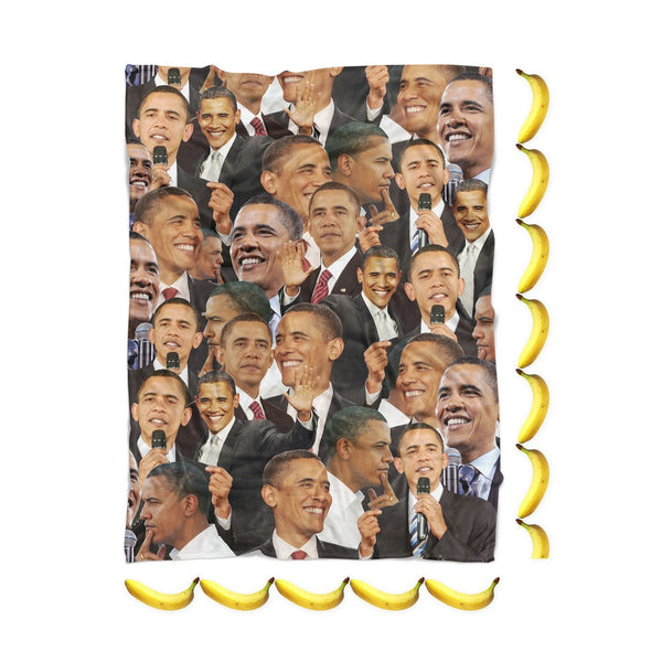 Barack Obama Face Blanket-Gooten-| All-Over-Print Everywhere - Designed to Make You Smile