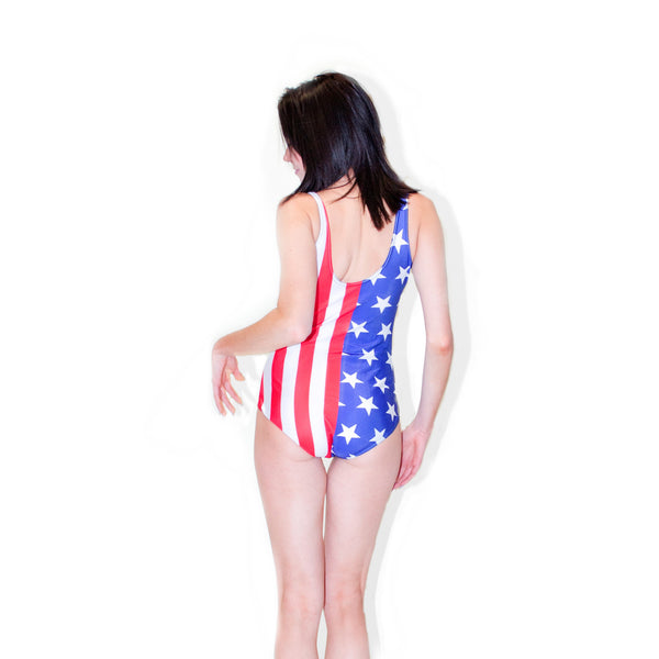 One-Piece Swimsuits - American Flag One-Piece Swimsuit