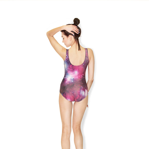 One-Piece Swimsuits - Pink Galaxy One-Piece Swimsuit