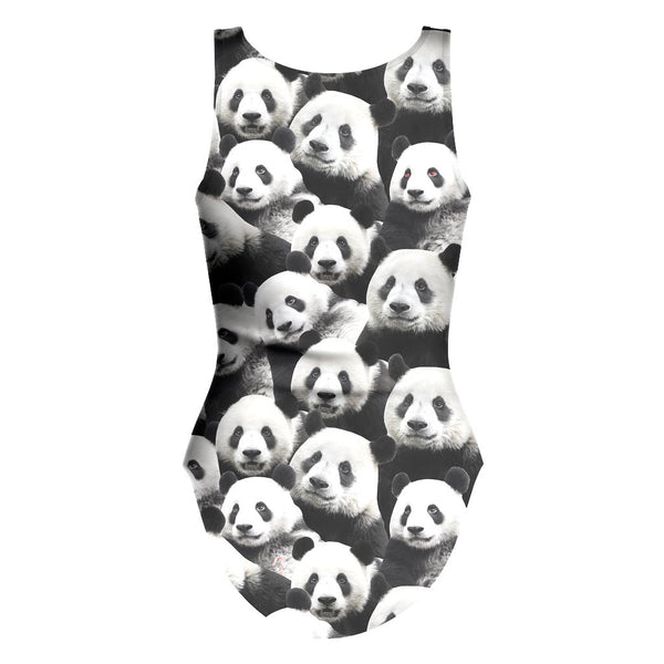 Panda Invasion One Piece Swimsuit-teelaunch-| All-Over-Print Everywhere - Designed to Make You Smile
