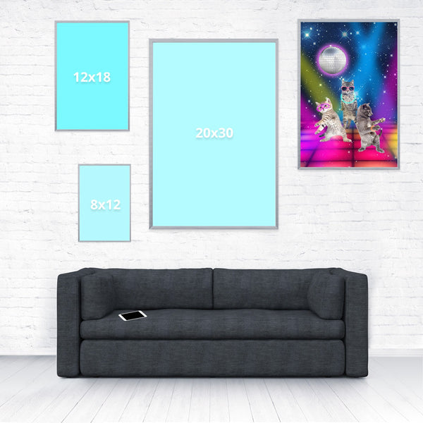 Party Cats Poster-Shelfies-16 x 24-| All-Over-Print Everywhere - Designed to Make You Smile