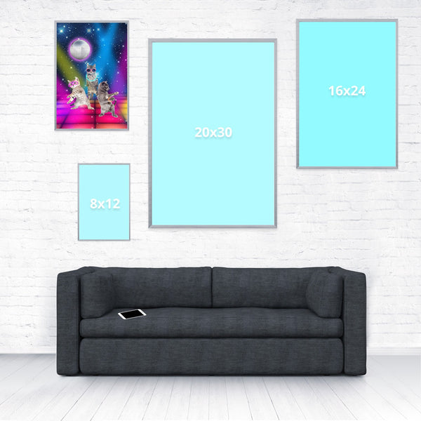 Party Cats Poster-Shelfies-12 x 18-| All-Over-Print Everywhere - Designed to Make You Smile