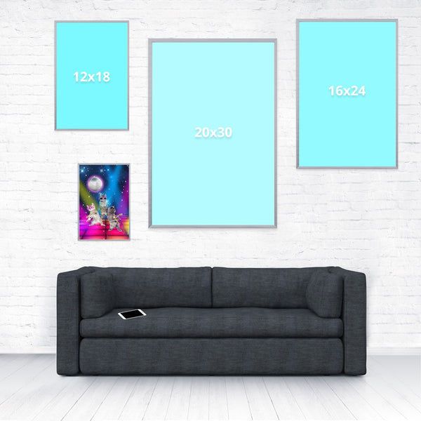 Party Cats Poster-Shelfies-8 x 12-| All-Over-Print Everywhere - Designed to Make You Smile