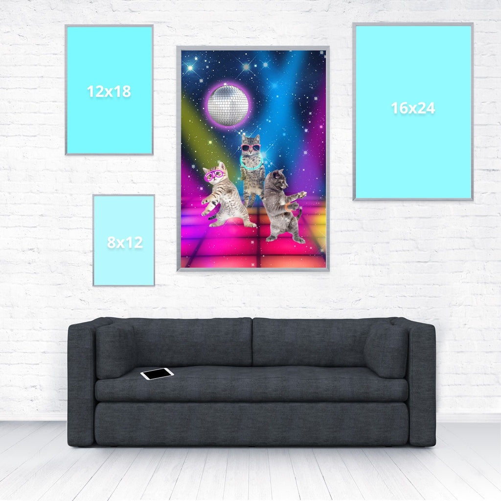 Party Cats Poster-Shelfies-20 x 30-| All-Over-Print Everywhere - Designed to Make You Smile