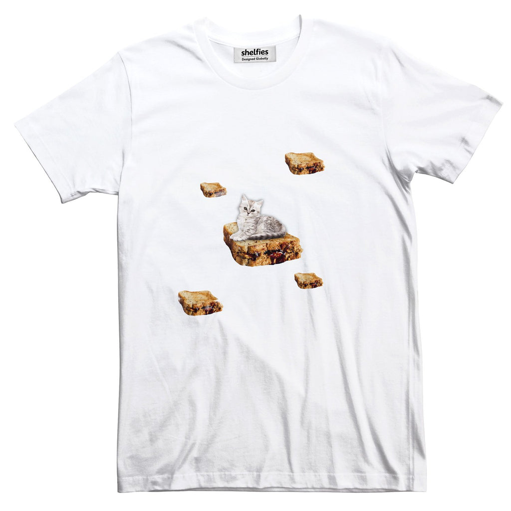 PB & J Galaxy Cat Basic T-Shirt-Printify-White-S-| All-Over-Print Everywhere - Designed to Make You Smile