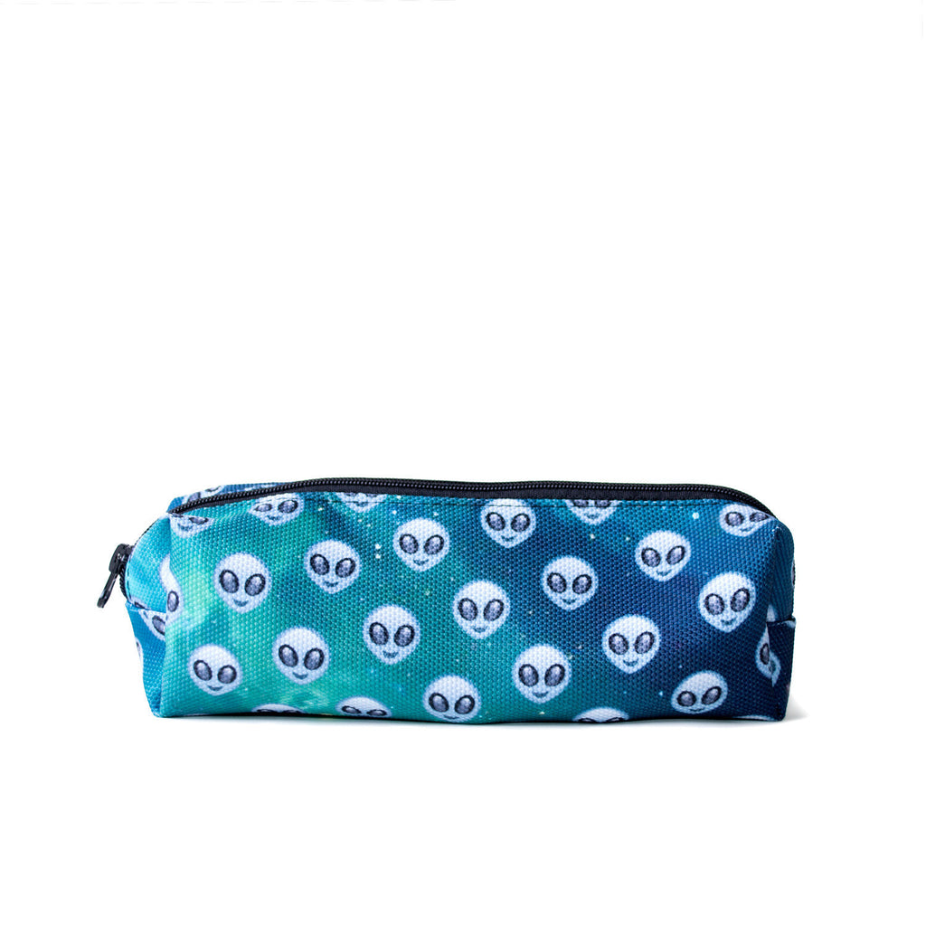 Grey Alien Headz Pencil Case-Shelfies-| All-Over-Print Everywhere - Designed to Make You Smile