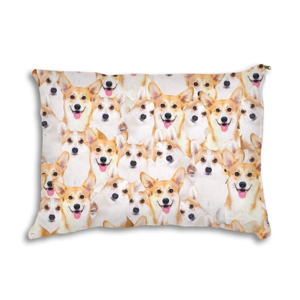 Corgi Invasion Pet Bed-teelaunch-Corgi Invasion Pet Bed-| All-Over-Print Everywhere - Designed to Make You Smile