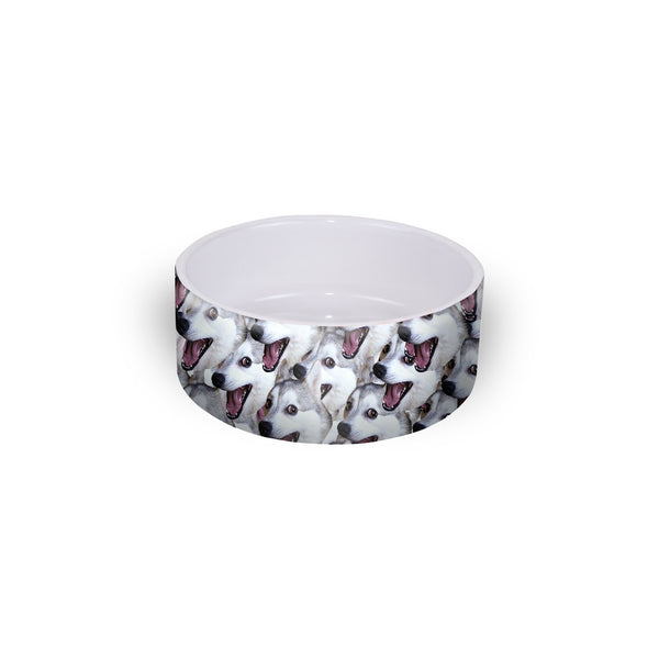 Bad Joke Husky Pet Bowl-teelaunch-One Size-| All-Over-Print Everywhere - Designed to Make You Smile