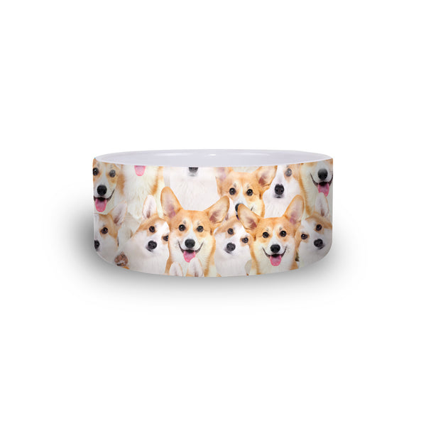 Corgi Invasion Pet Bowl-teelaunch-One Size-| All-Over-Print Everywhere - Designed to Make You Smile