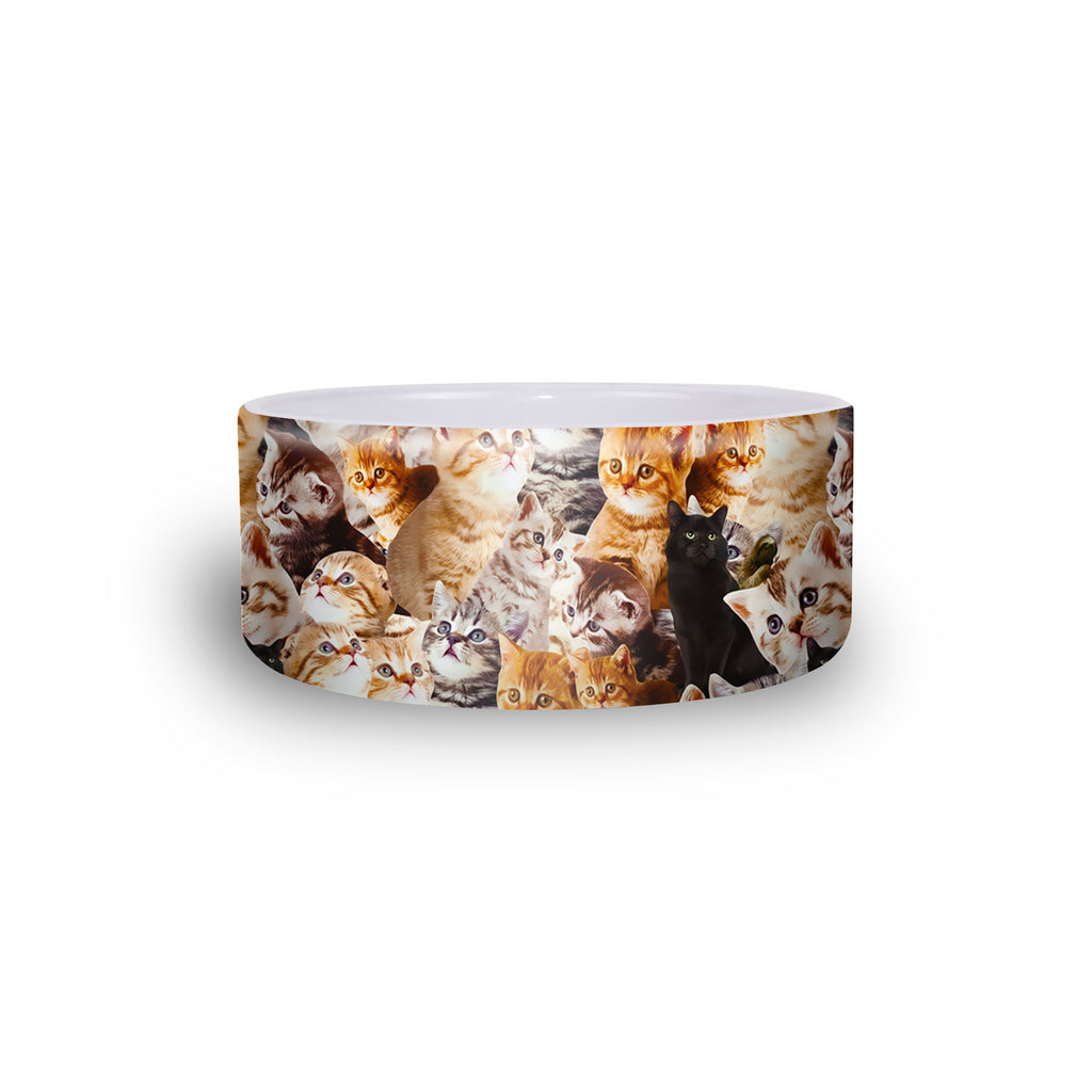 Kitty Invasion Pet Bowl-teelaunch-One Size-| All-Over-Print Everywhere - Designed to Make You Smile
