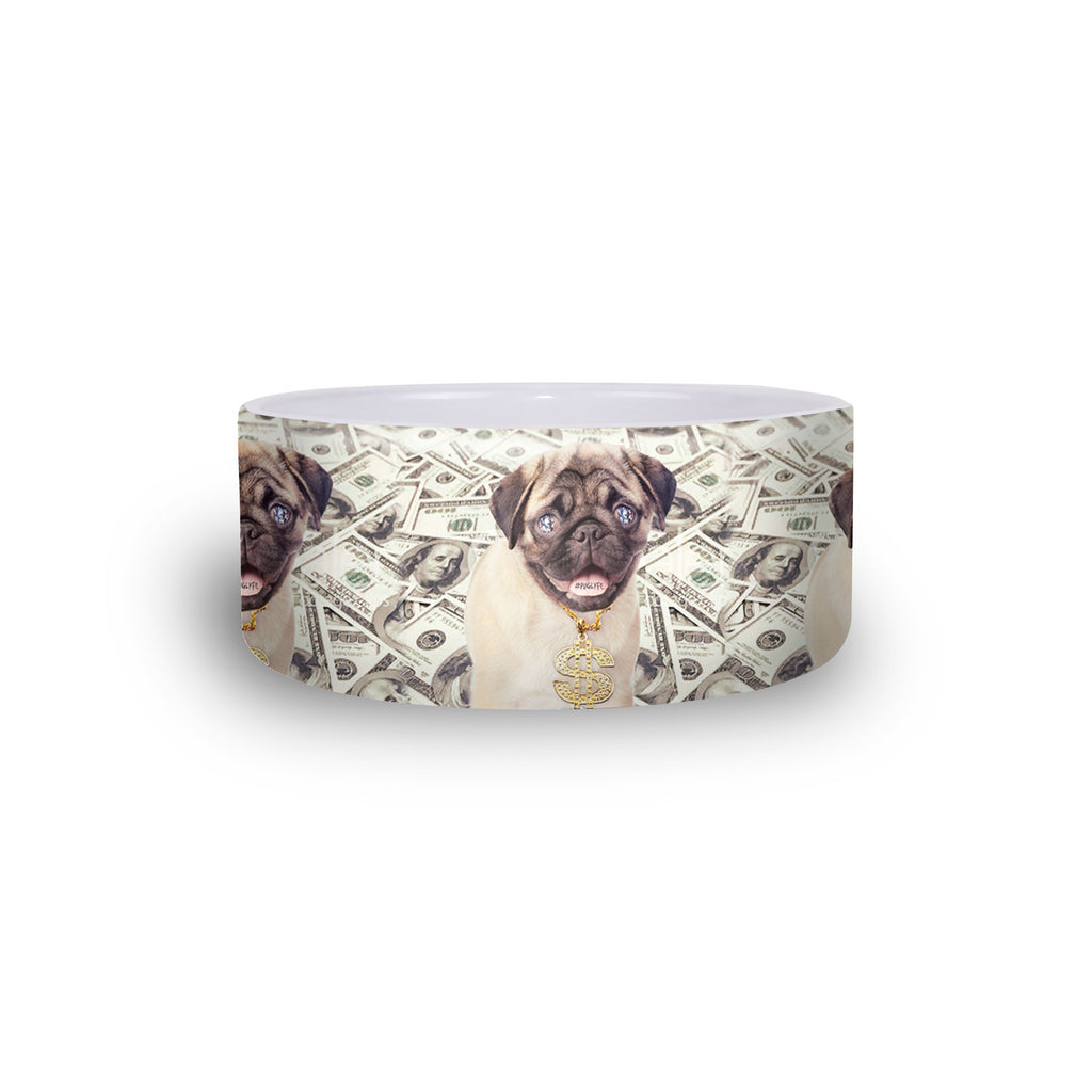 Thug Pug Pet Bowl-teelaunch-One Size-| All-Over-Print Everywhere - Designed to Make You Smile