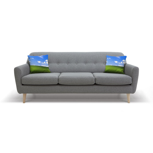 Bliss Screensaver Throw Pillow Case-Shelfies-| All-Over-Print Everywhere - Designed to Make You Smile