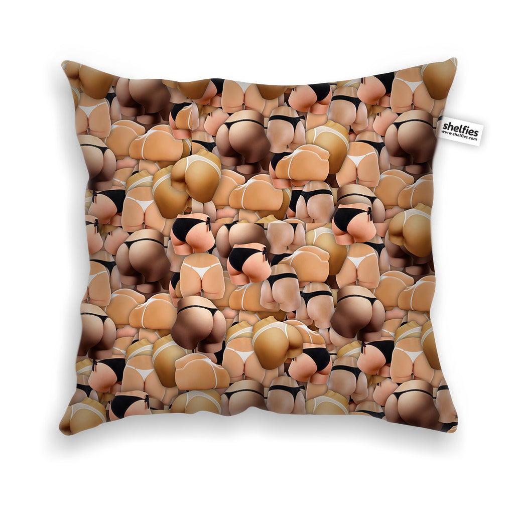 Booty Invasion Throw Pillow Case-Shelfies-| All-Over-Print Everywhere - Designed to Make You Smile