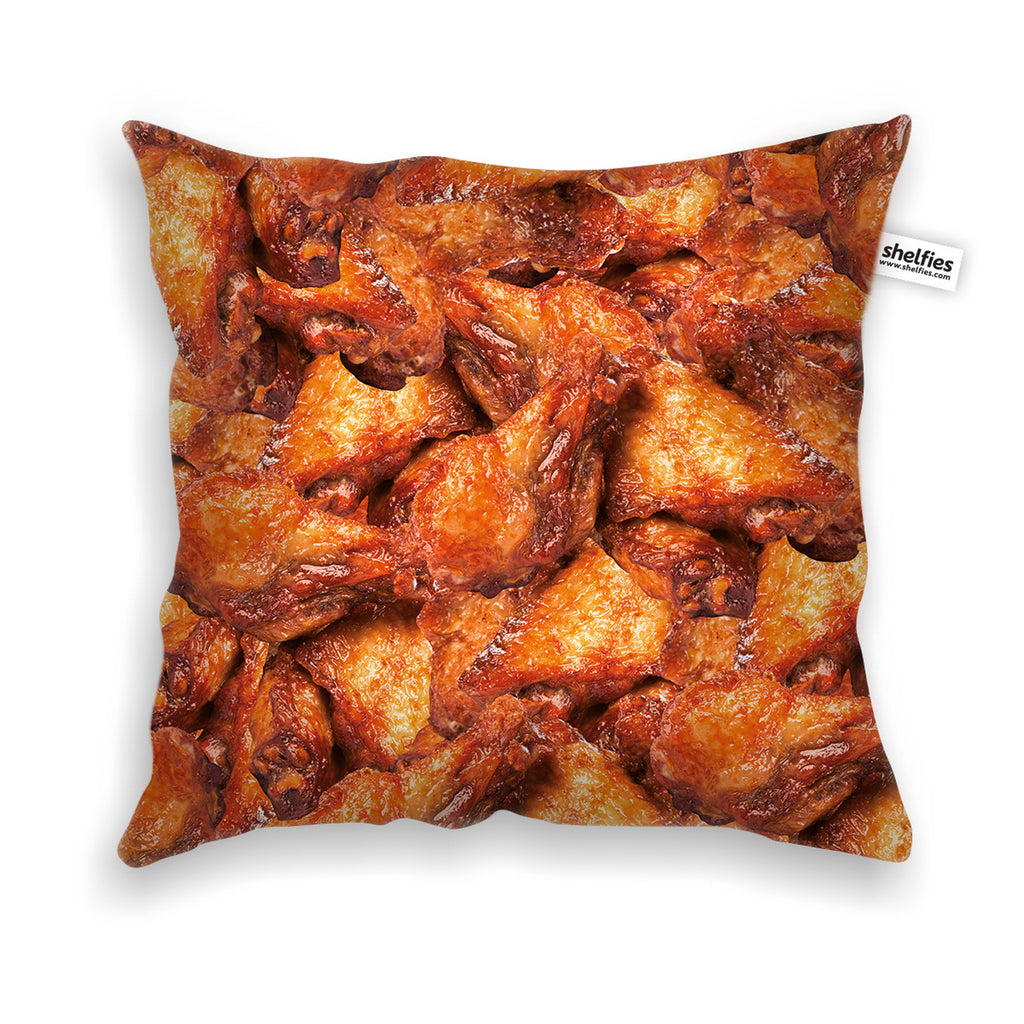 Chicken Wings Invasion Throw Pillow Case-Shelfies-| All-Over-Print Everywhere - Designed to Make You Smile