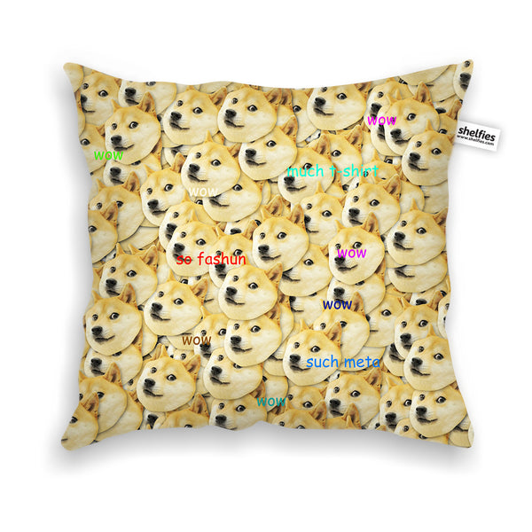 "Pillow Cases - Doge ""Much Fashun"" Invasion Throw Pillow Case"
