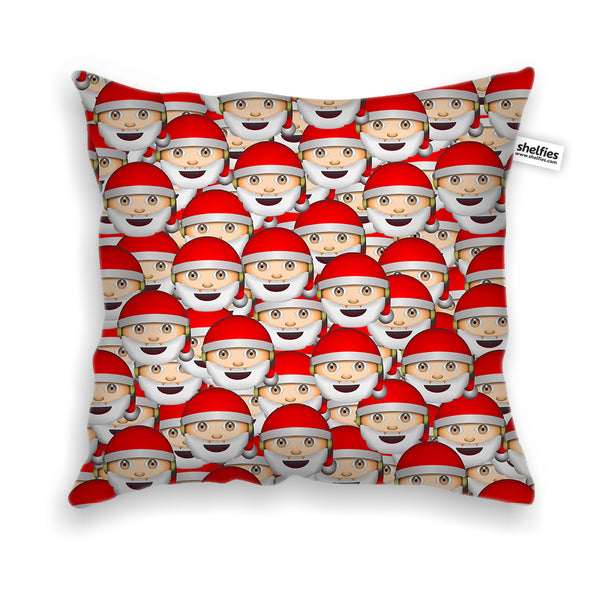 Emoji Santa Invasion Throw Pillow Case-Shelfies-| All-Over-Print Everywhere - Designed to Make You Smile