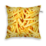 French Fries Invasion Throw Pillow Case-Shelfies-| All-Over-Print Everywhere - Designed to Make You Smile