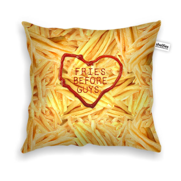 Fries Before Guys Throw Pillow Case-Shelfies-| All-Over-Print Everywhere - Designed to Make You Smile