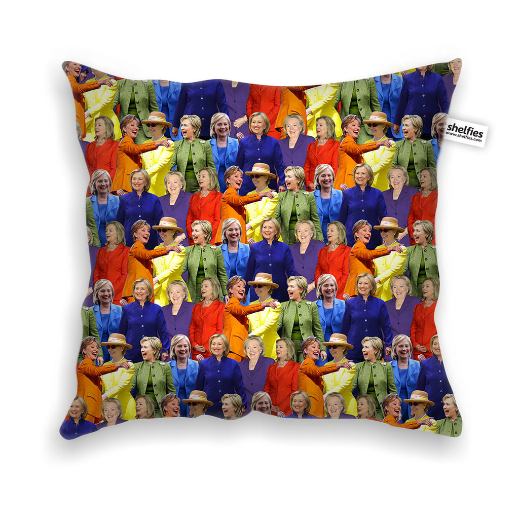 Pillow Cases - Hillary Clinton Rainbow Suits Throw Pillow Case