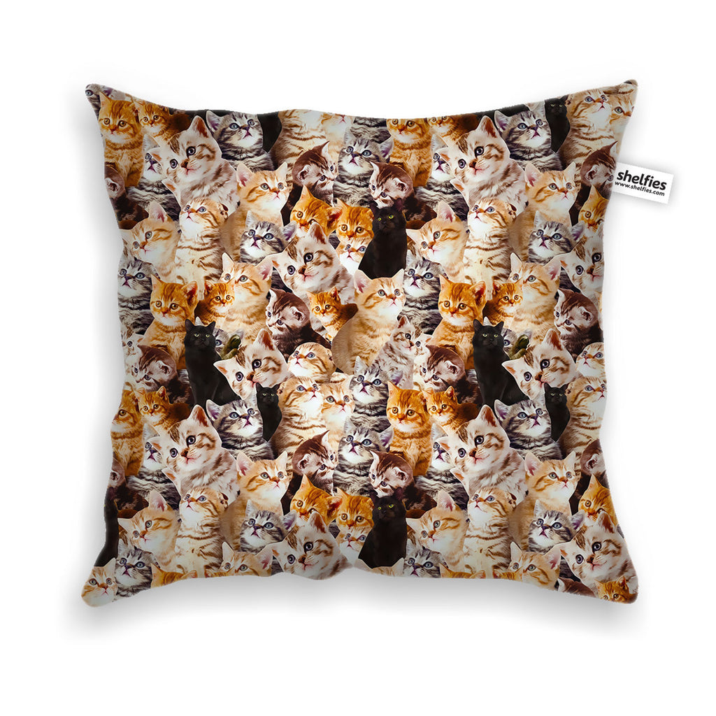Kitty Invasion Throw Pillow Case-Shelfies-| All-Over-Print Everywhere - Designed to Make You Smile