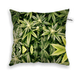 Kush Leaves Throw Pillow Case-Shelfies-| All-Over-Print Everywhere - Designed to Make You Smile