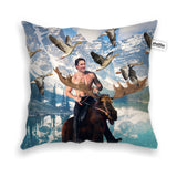 Moosin' Trudeau Throw Pillow Case-Shelfies-| All-Over-Print Everywhere - Designed to Make You Smile