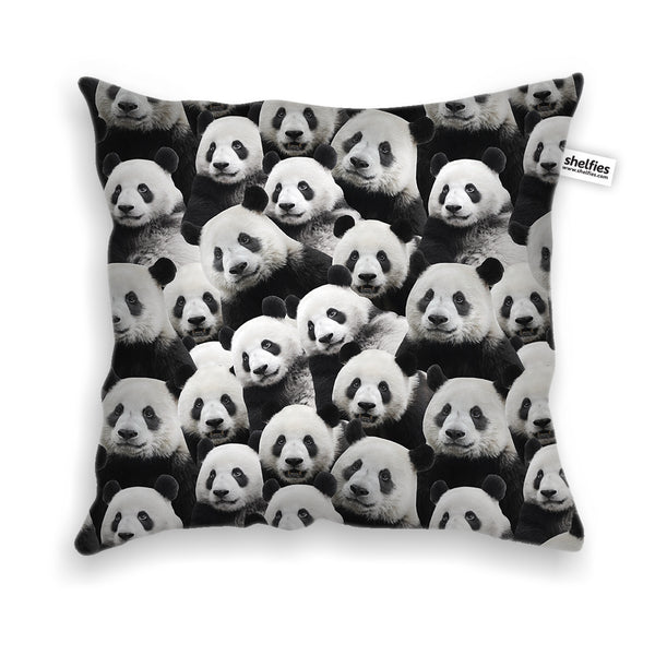 Panda Invasion Throw Pillow Case-Shelfies-| All-Over-Print Everywhere - Designed to Make You Smile