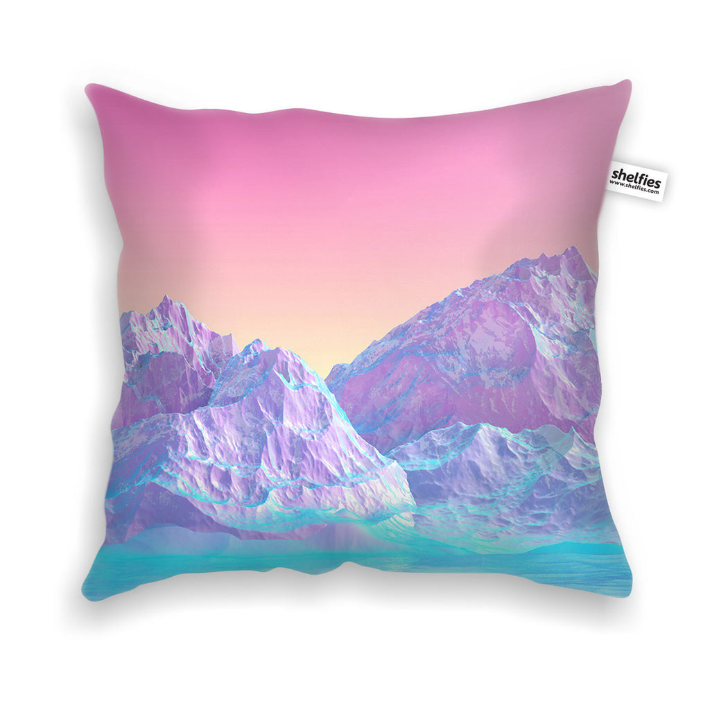 pastel mountains throw pillow case shelfies. Black Bedroom Furniture Sets. Home Design Ideas