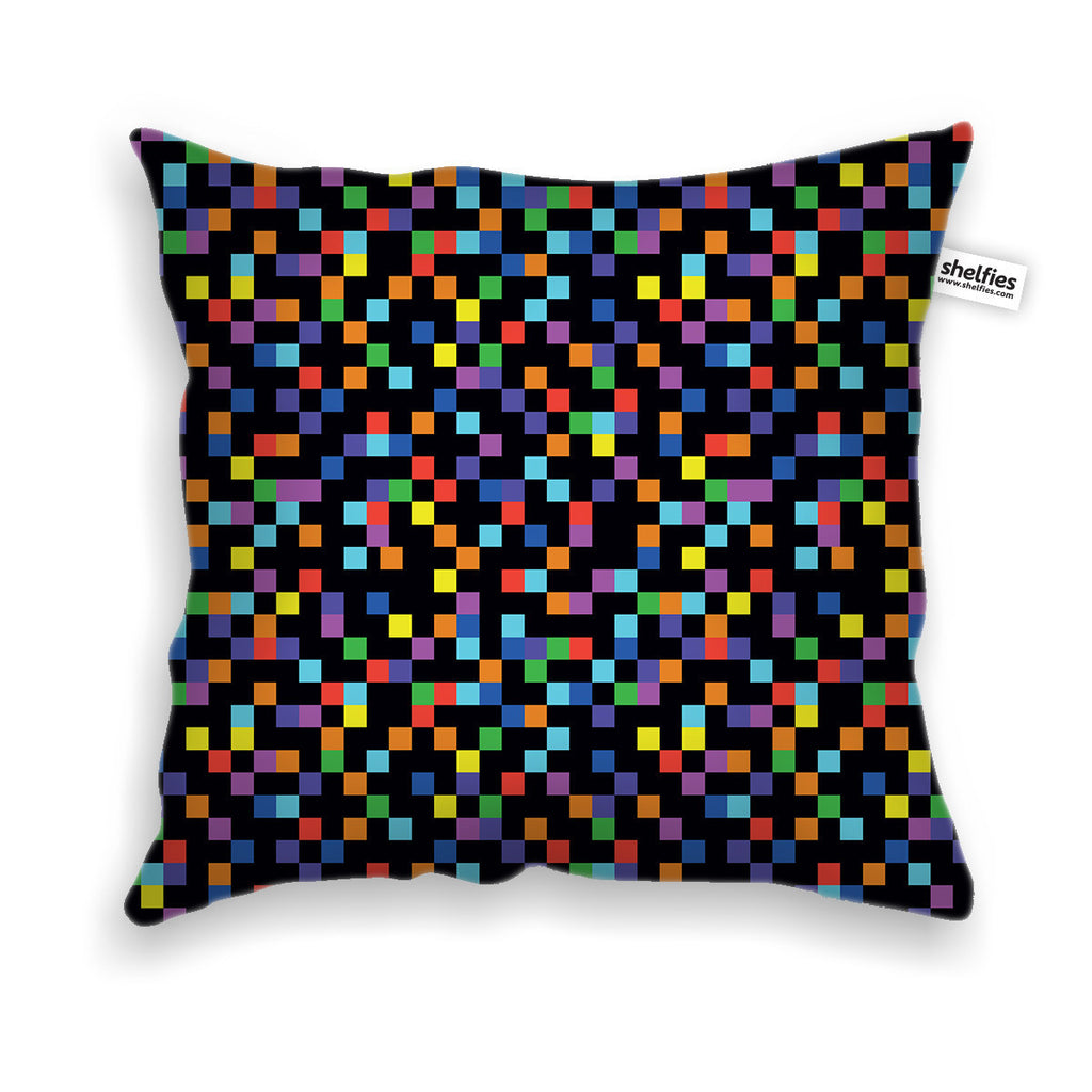 Pixel throw pillow case shelfies all over print everywhere designed