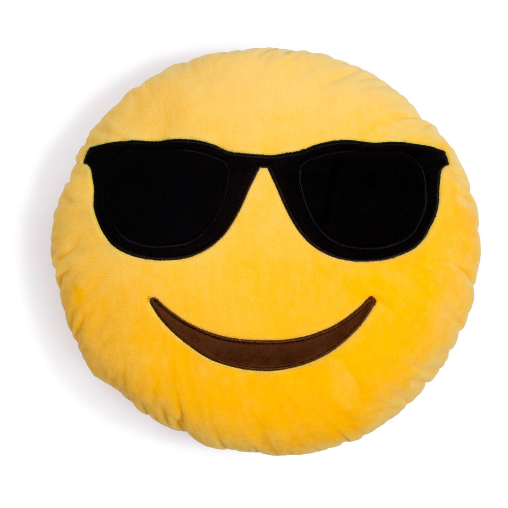 Cool Guy Sunglasses Emoji Pillow-Shelfies-| All-Over-Print Everywhere - Designed to Make You Smile