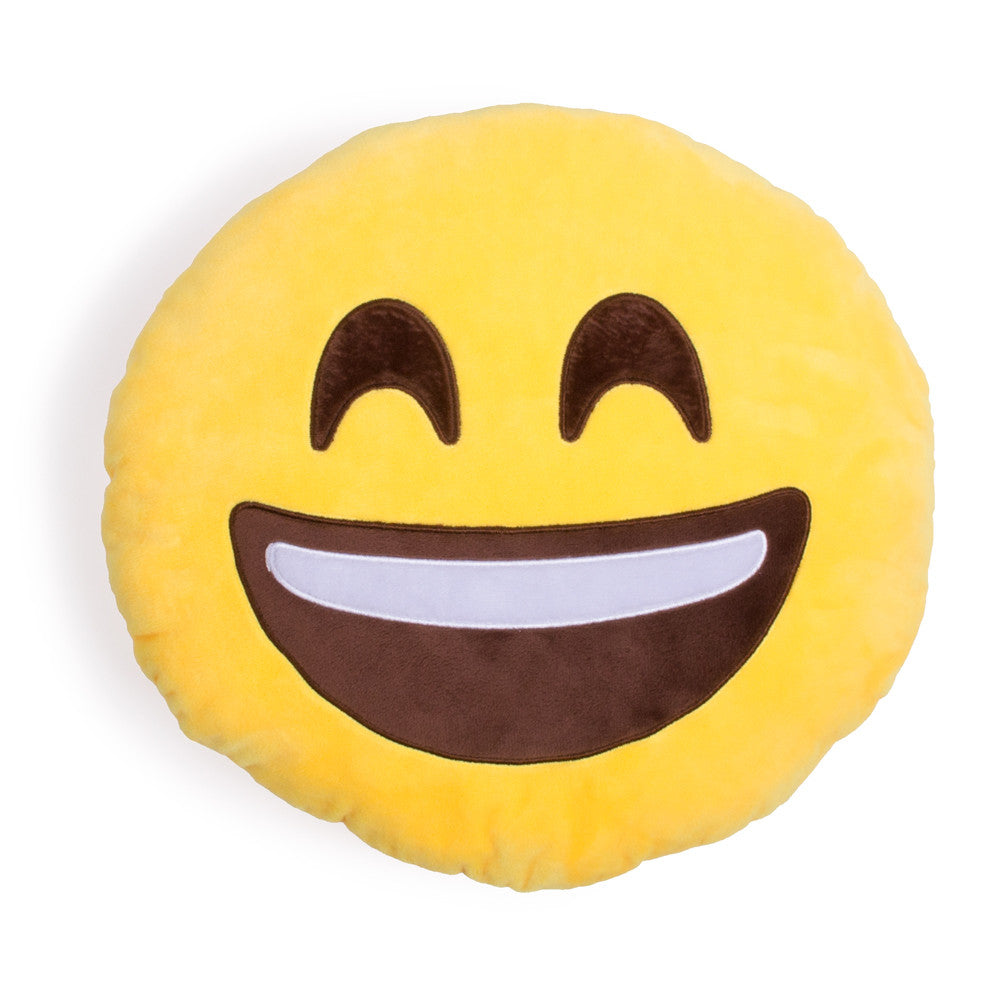 Extra Happy Emoji Pillow - Shelfies | All-Over-Print Everywhere - Designed to Make You Smile
