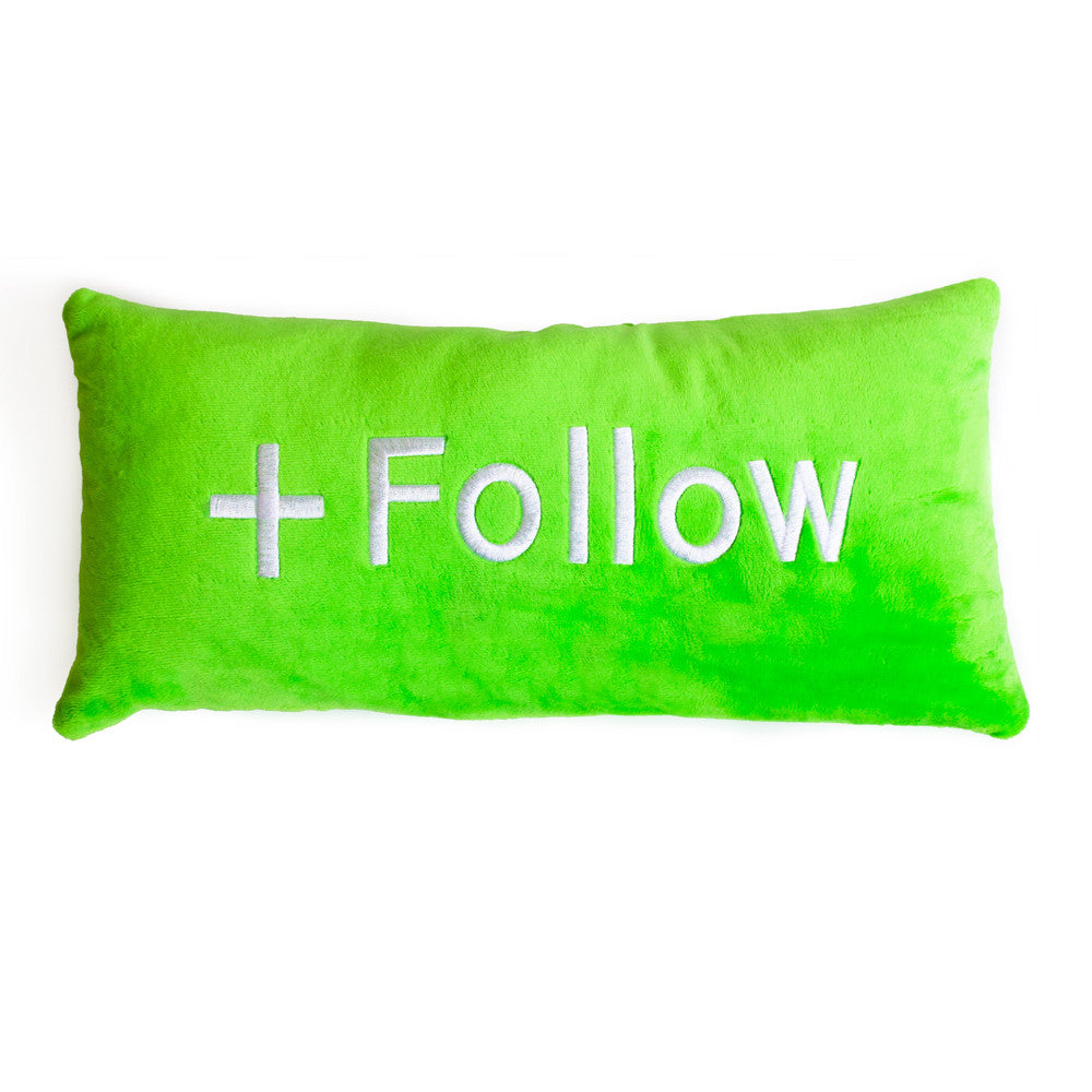 Follow Button Pillow - Shelfies | All-Over-Print Everywhere - Designed to Make You Smile