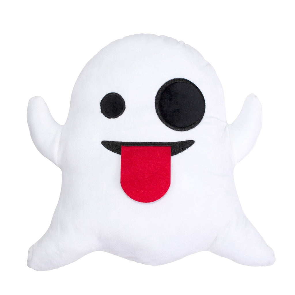 Ghost Emoji Pillow-Shelfies-One Size-| All-Over-Print Everywhere - Designed to Make You Smile