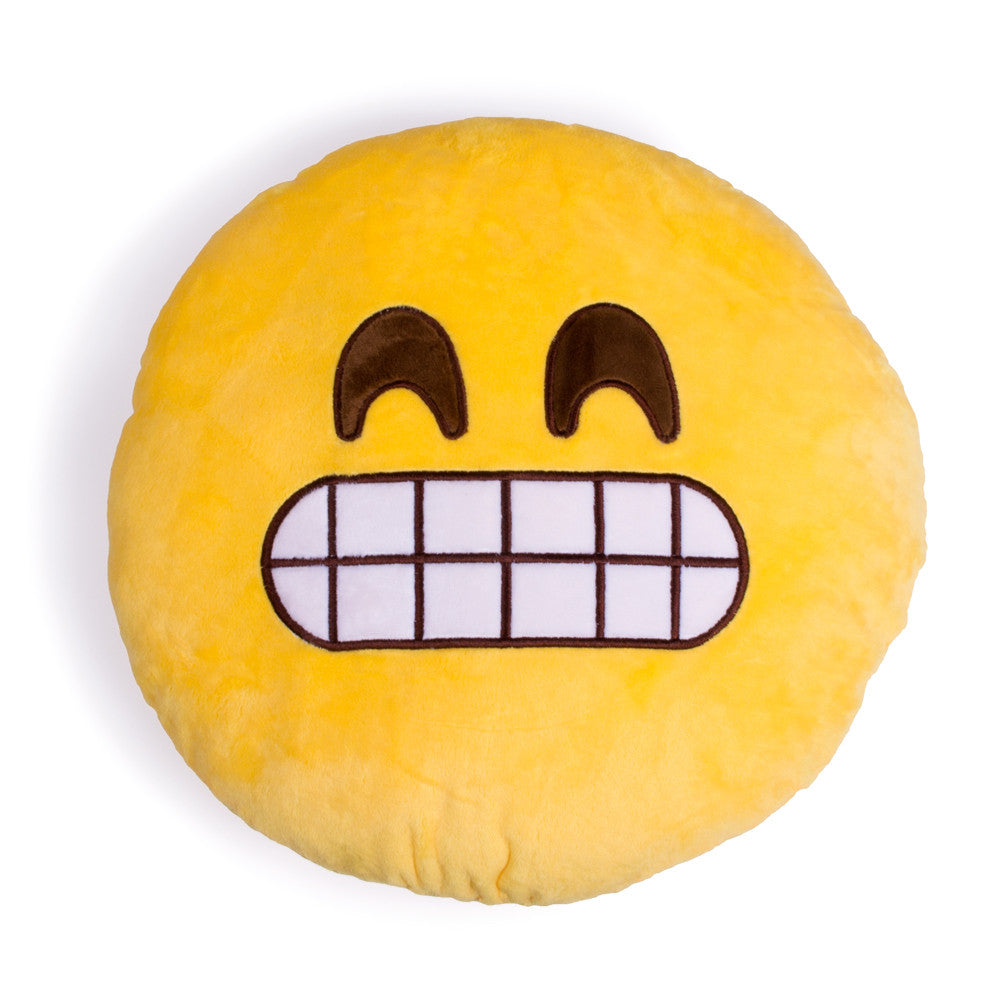 Grimacing Emoji Pillow-Shelfies-One Size-| All-Over-Print Everywhere - Designed to Make You Smile