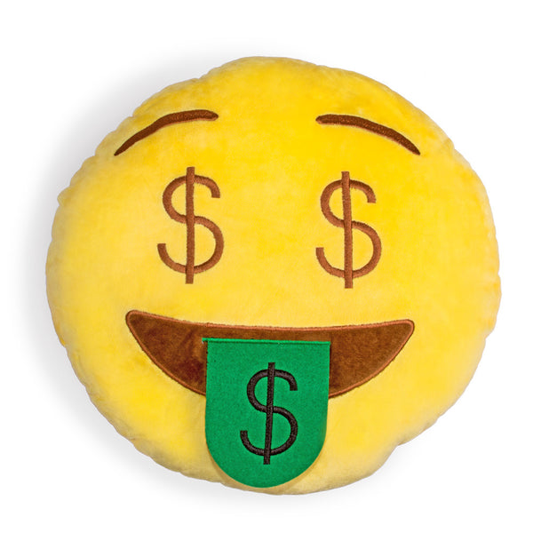 Money Face Emoji Pillow-Shelfies-One Size-| All-Over-Print Everywhere - Designed to Make You Smile