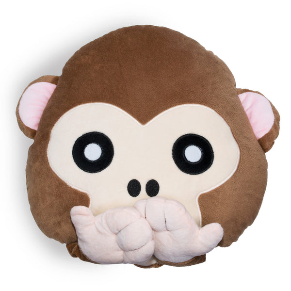 Monkey Emoji Pillow-Shelfies-One Size-| All-Over-Print Everywhere - Designed to Make You Smile