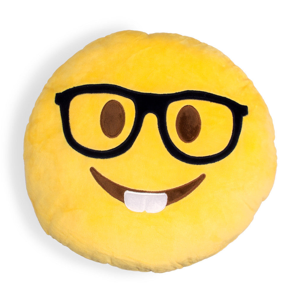 Nerdy Emoji Pillow-Shelfies-15x15cm-| All-Over-Print Everywhere - Designed to Make You Smile