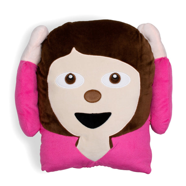 Pink Girl Emoji Pillow-Shelfies-One Size-| All-Over-Print Everywhere - Designed to Make You Smile