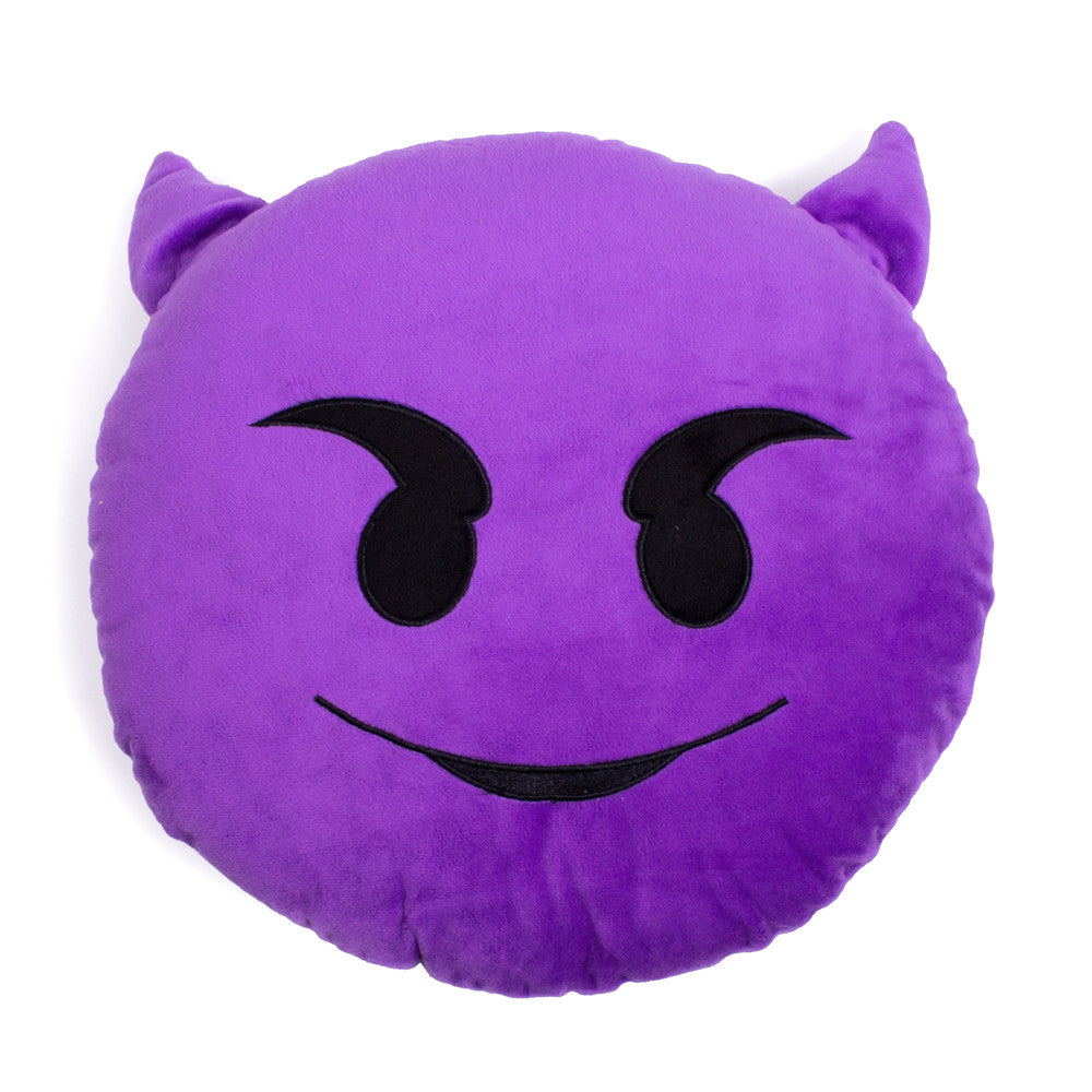 Purple Devil Emoji Pillow-Shelfies-| All-Over-Print Everywhere - Designed to Make You Smile