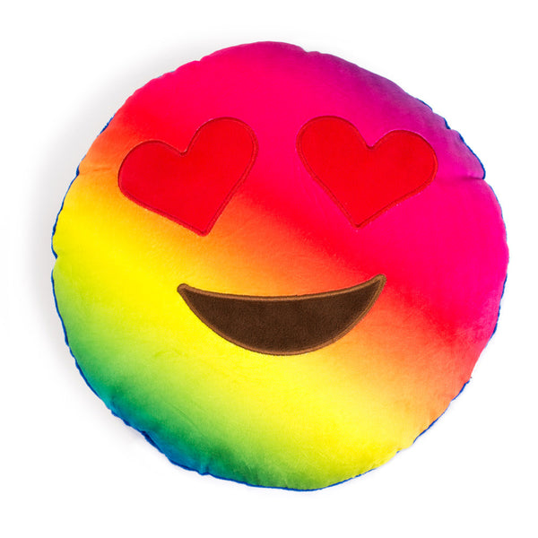 Rainbow Heart Eyes Emoji Pillow-Shelfies-One Size-| All-Over-Print Everywhere - Designed to Make You Smile