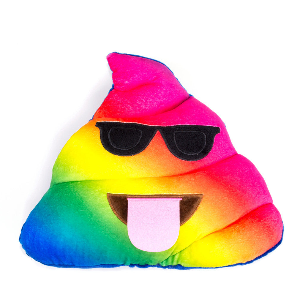 Rainbow Poo Emoji Pillow-Shelfies-One Size-| All-Over-Print Everywhere - Designed to Make You Smile