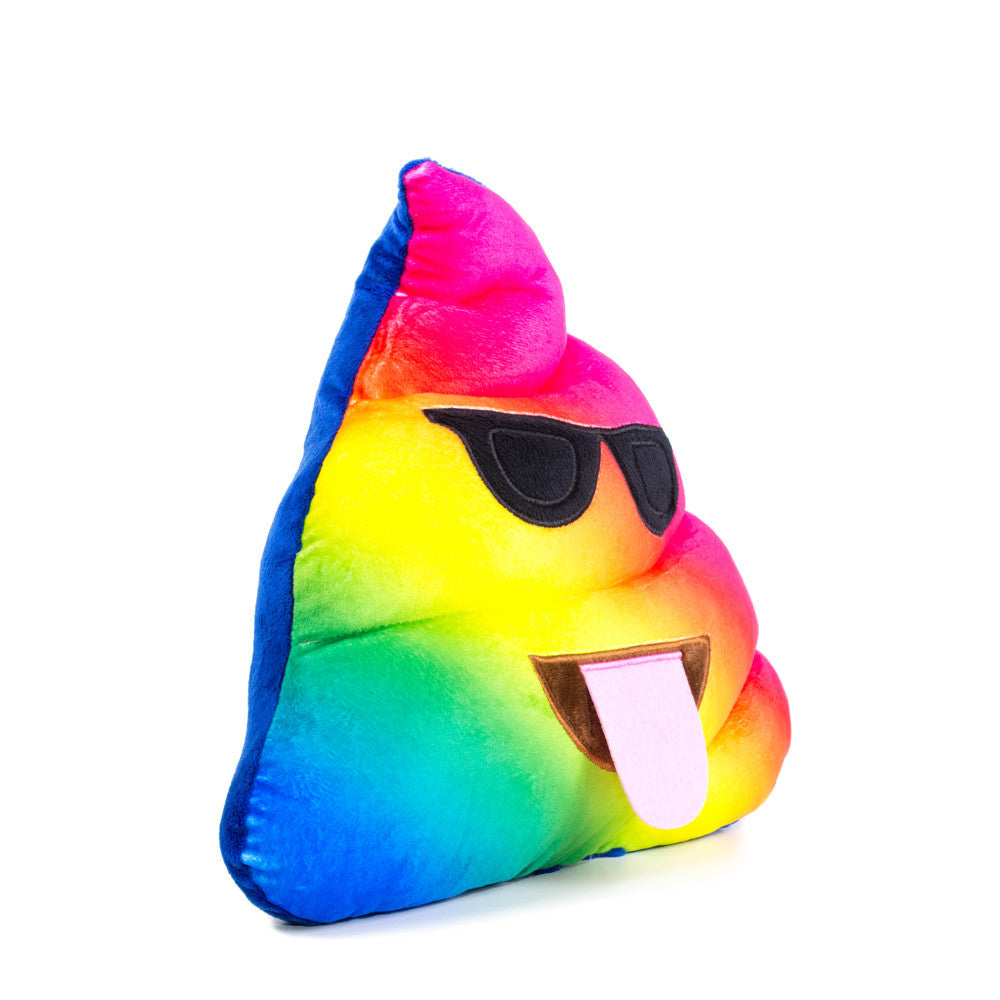 Rainbow Poo Emoji Pillow - Shelfies