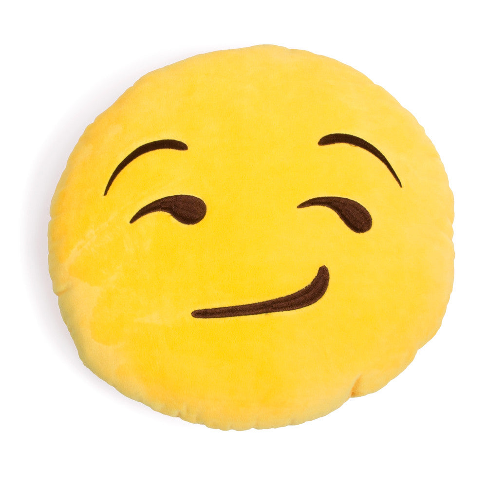 Smirking Emoji Pillow-Shelfies-| All-Over-Print Everywhere - Designed to Make You Smile