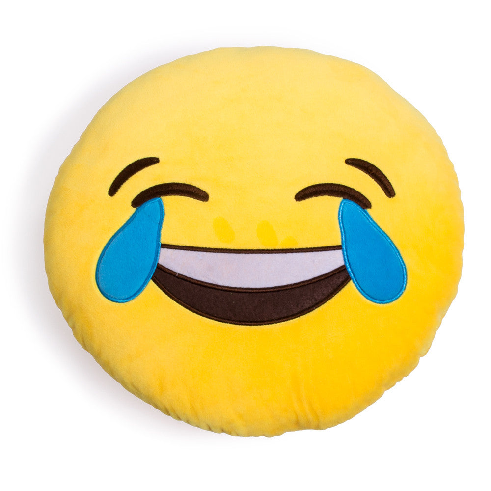 Tears of Joy Emoji Pillow-Shelfies-One Size-| All-Over-Print Everywhere - Designed to Make You Smile